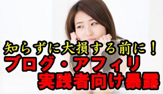 【暴露】ブログ・アフィリで大損する前に必ず読むべし!